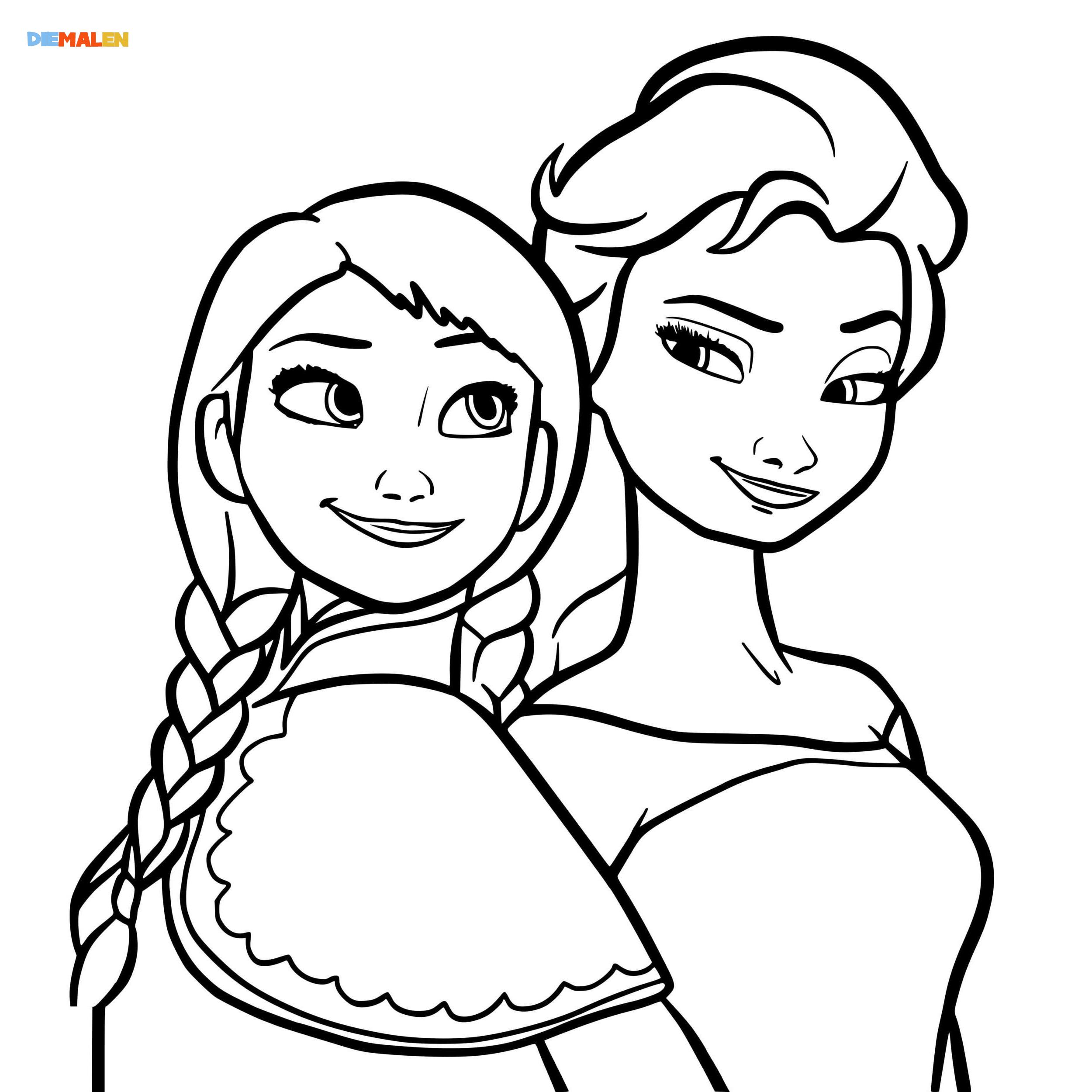 Elsa Ausmalbilder – Beste Malvorlagen für Mädchen → DieMalen.com