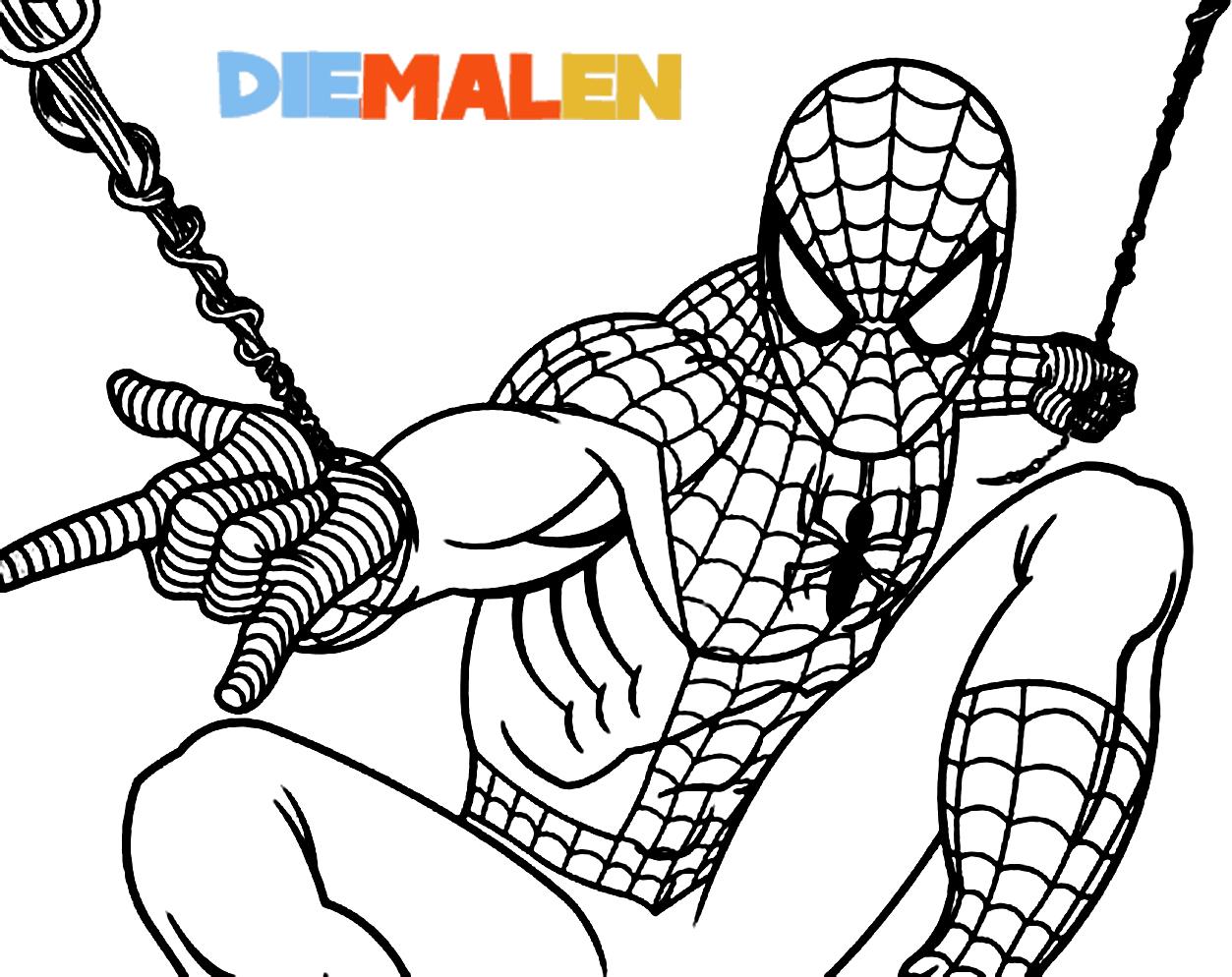 Spiderman Ausmalbilder – Beste Filmfigur → DieMalen.com