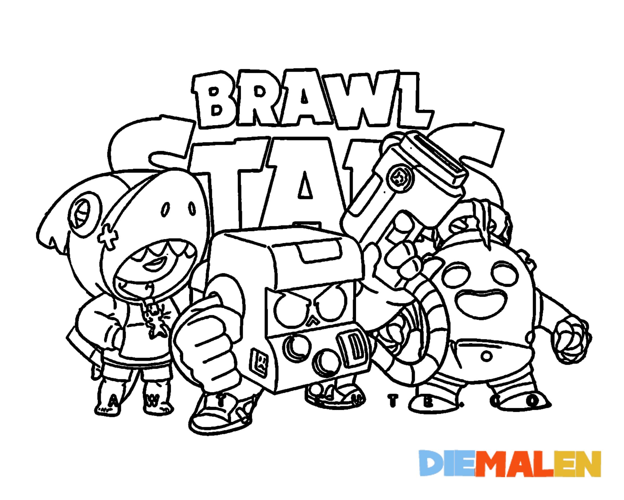 Brawl Stars Ausmalbilder → DieMalen.com