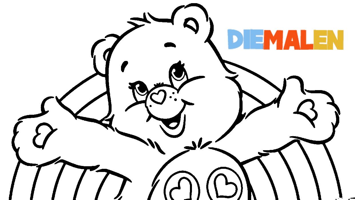 Glücksbärchis Ausmalbilder → DieMalen.com