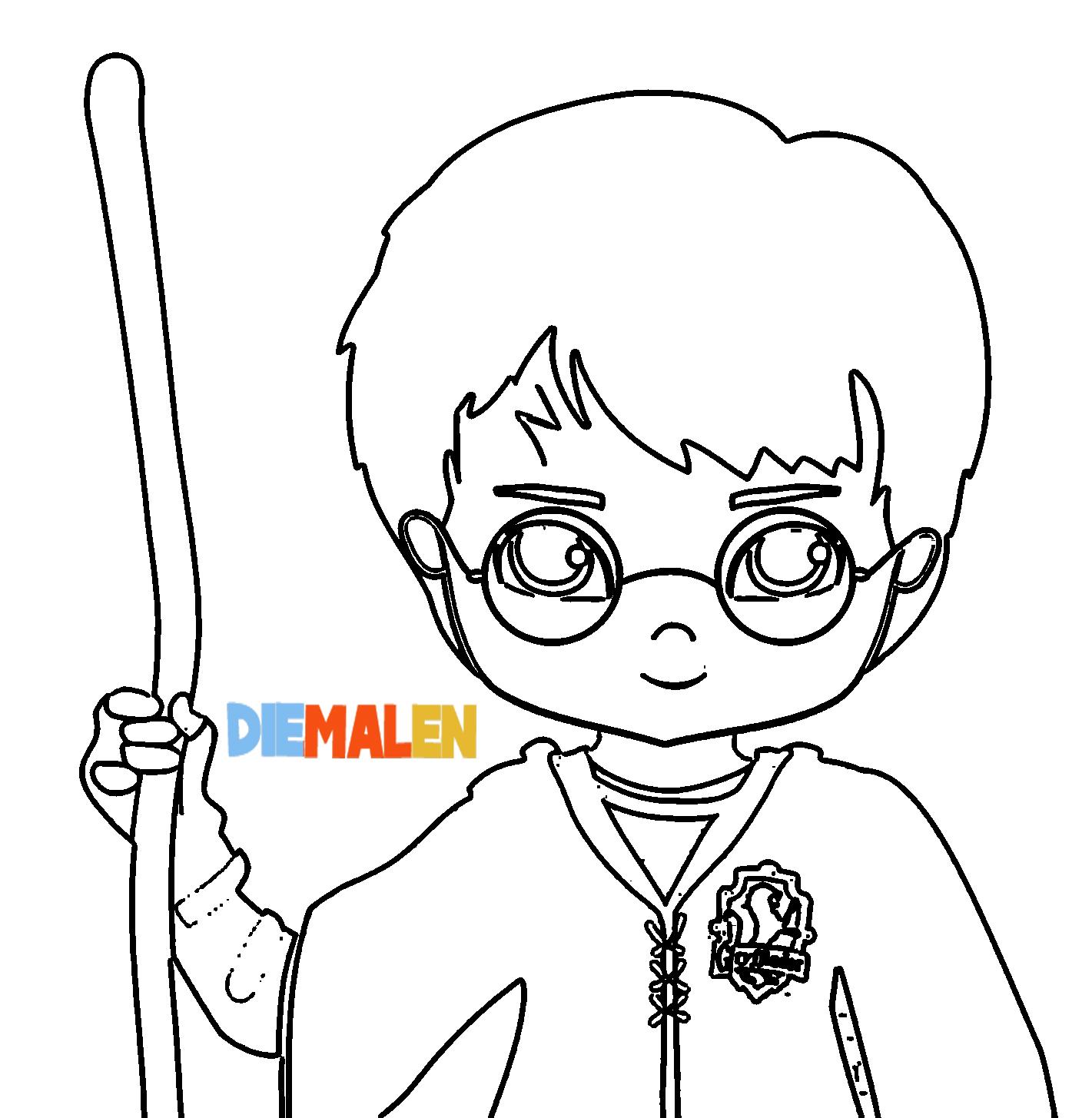 Harry Potter Ausmalbilder → DieMalen.com