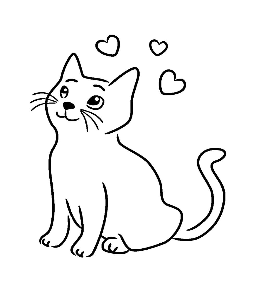 Katzen Ausmalbilder → DieMalen.com